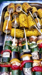 veg skewers and corn 2